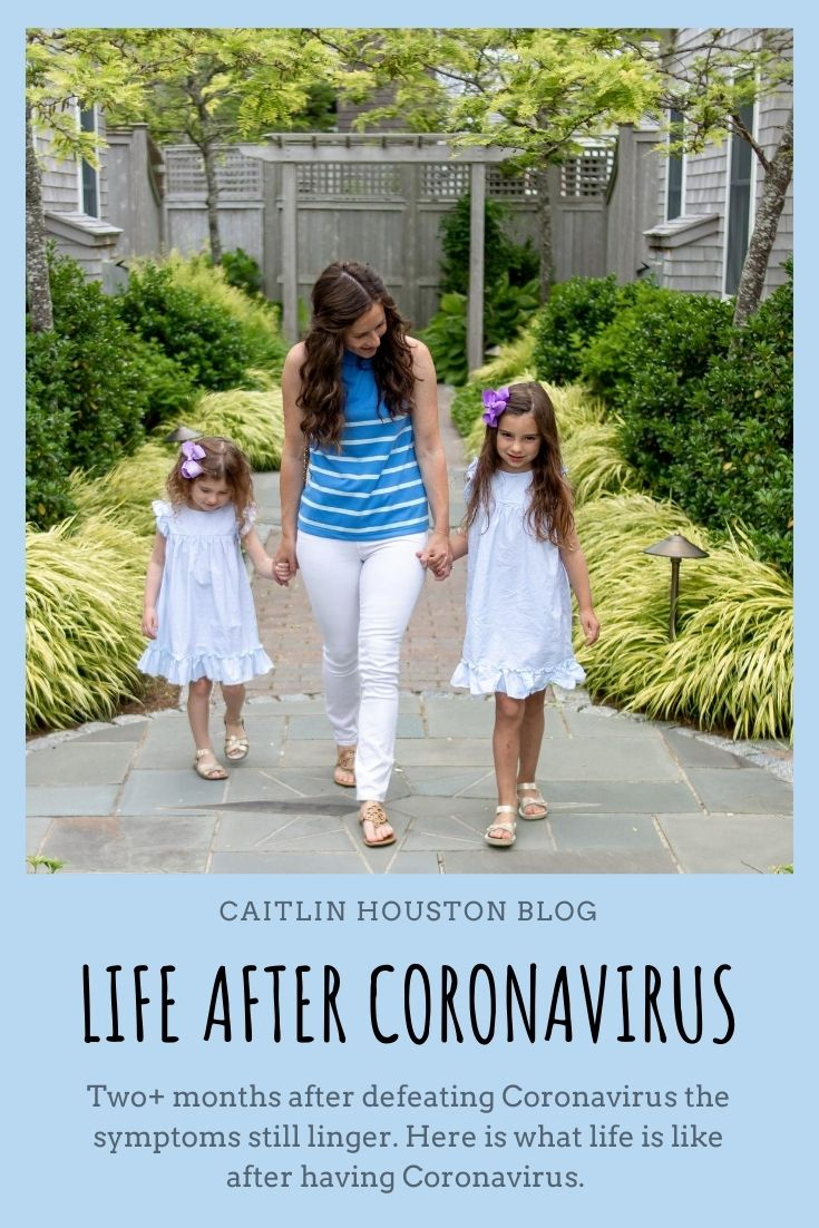 Mom walking with daughters Coronavirus survivor