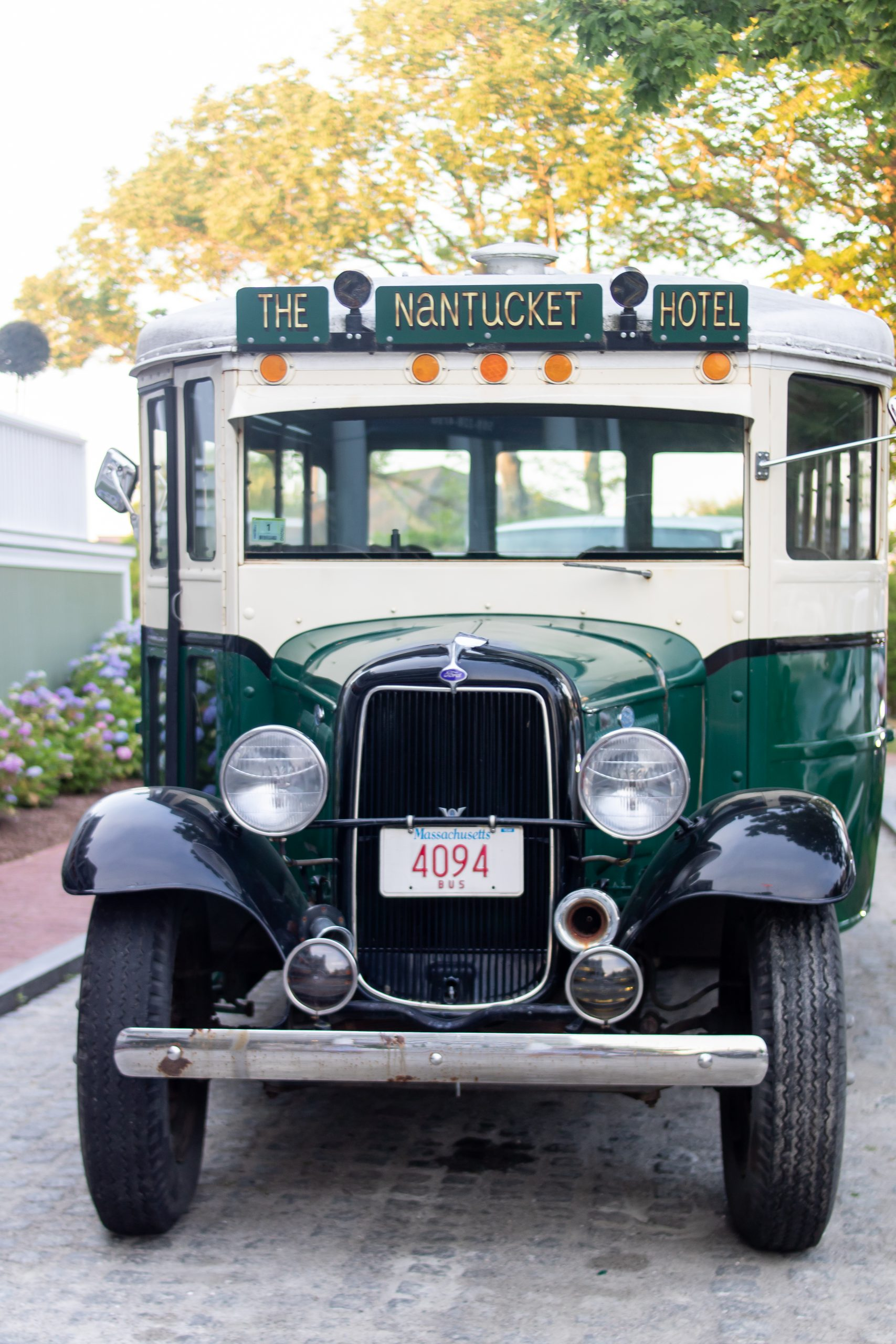 The Nantucket Hotel and Resort antique bus built in 1920s