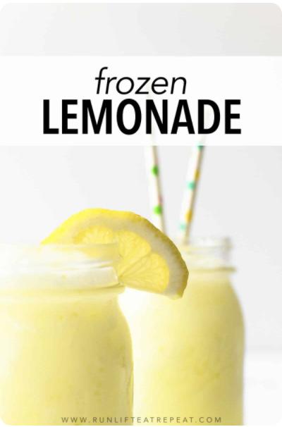 Frozen Lemonade Recipe for a Summer Cocktail or Mocktail
