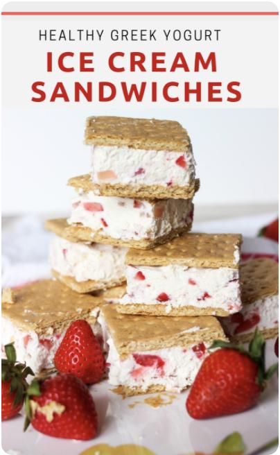 Easy Healthy Greek Yogurt Ice Cream Sandwiches for Summer