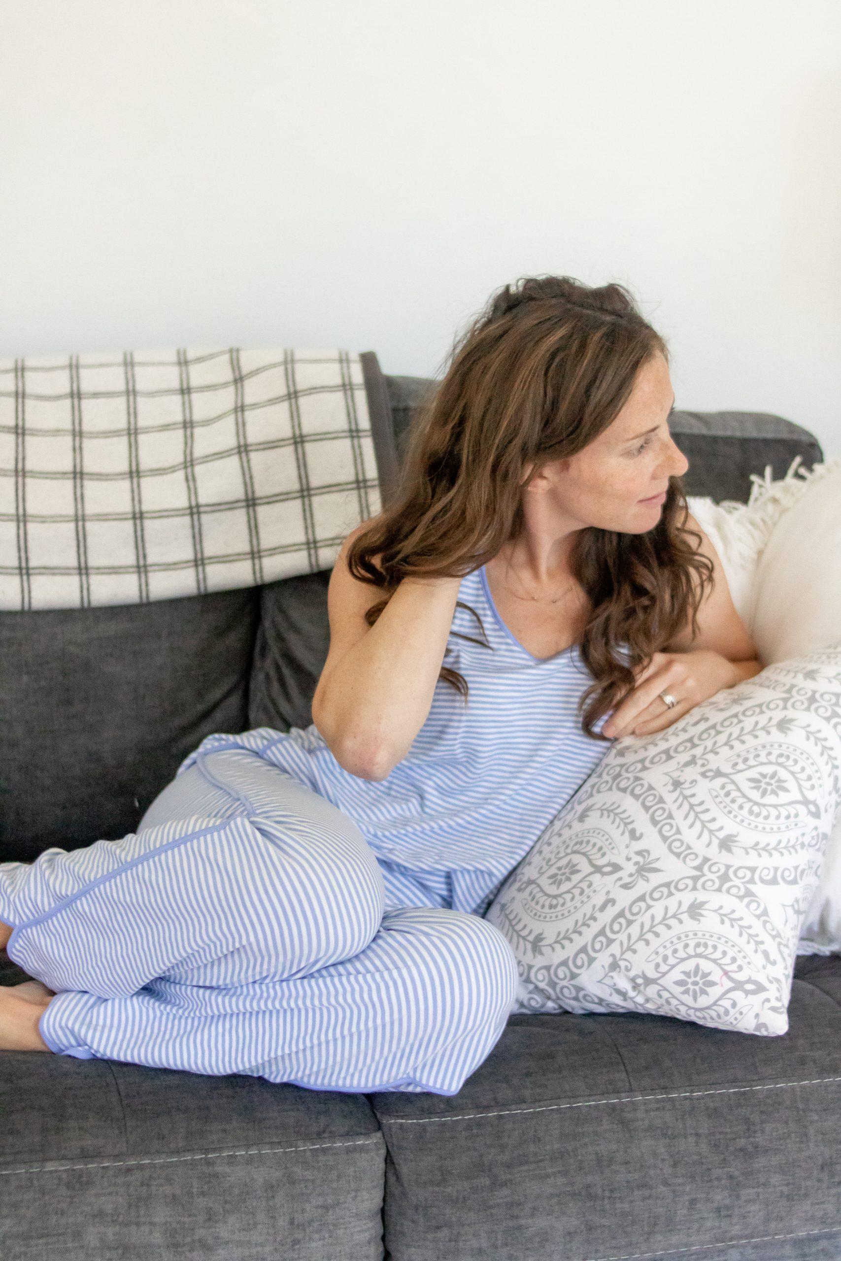 woman wearing lake pajamas friday favorites