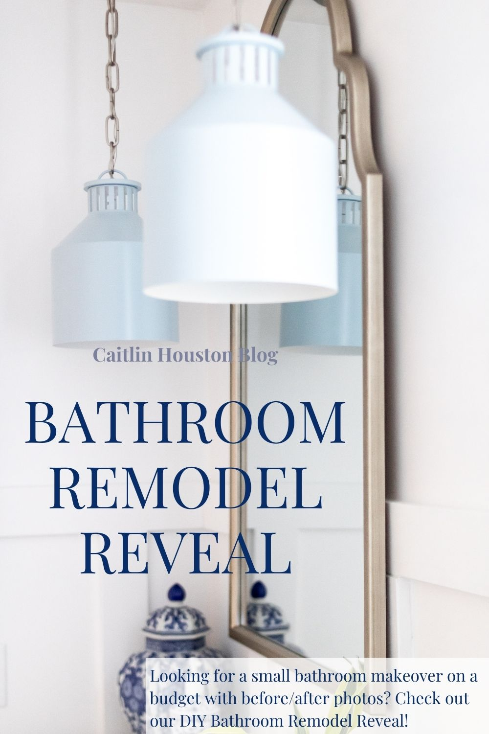 Bathroom Remodel Reveal - Looking for a small bathroom makeover on a budget with before/after photos? Check out our DIY Bathroom Remodel Reveal!