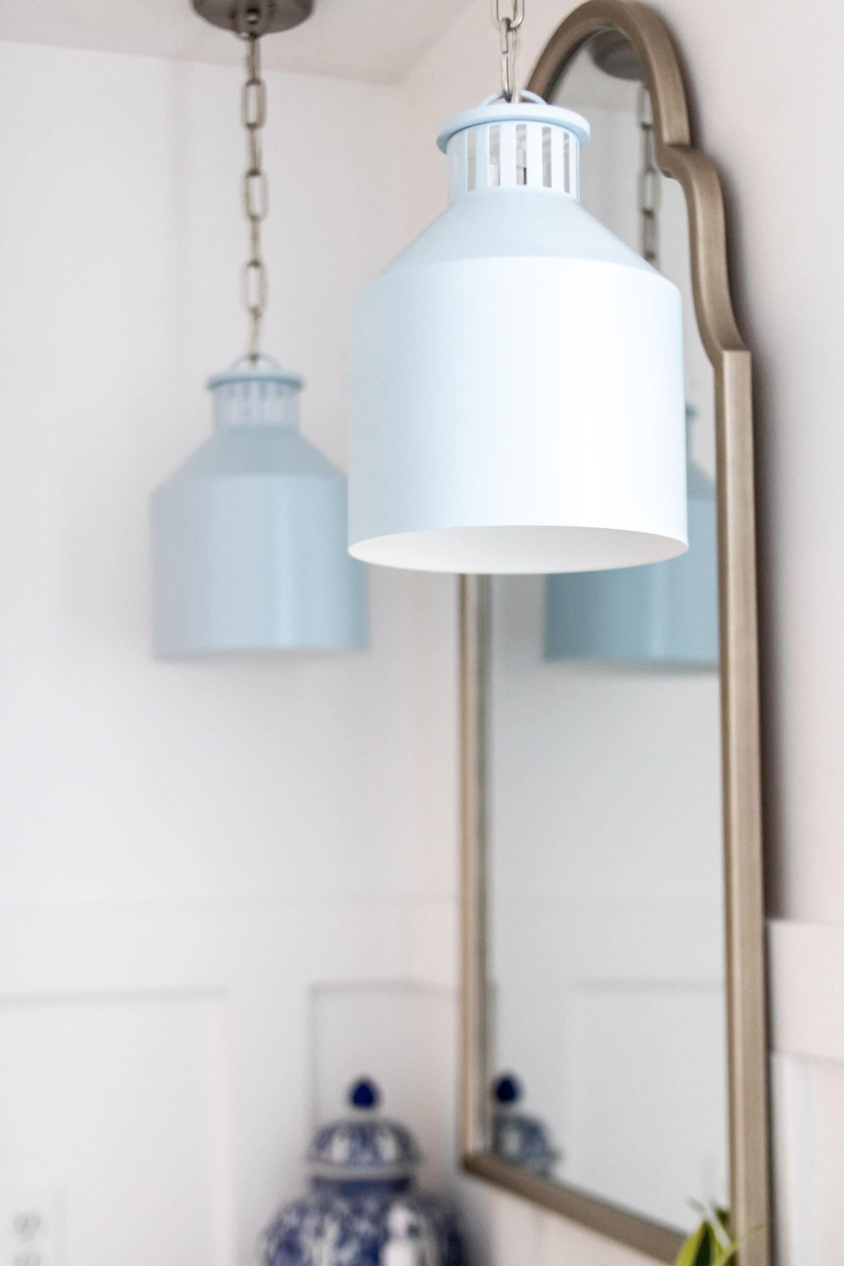 light blue canister pendant light fixtures