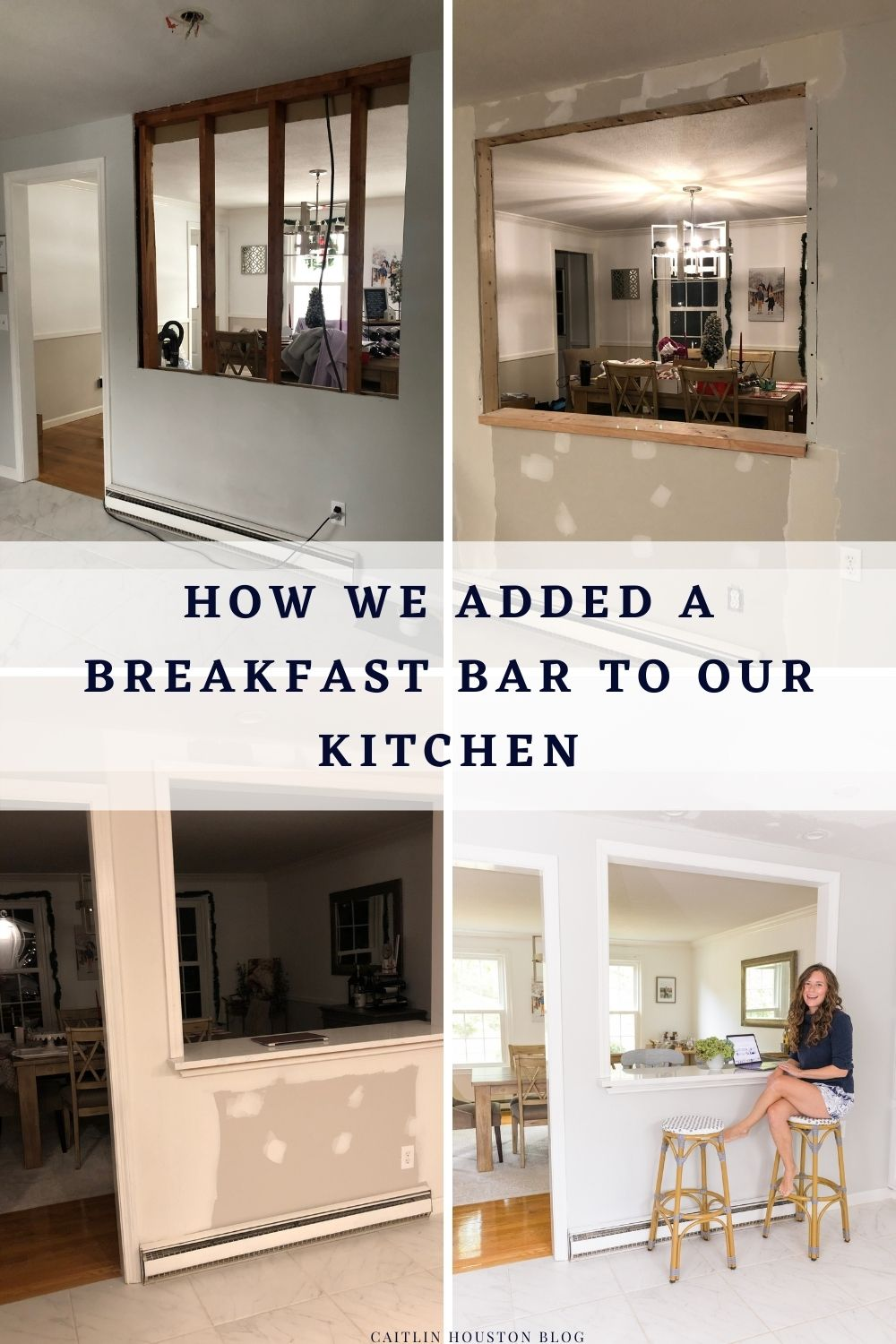 How We Knocked Down the Wall in the Kitchen to Make a Breakfast Bar