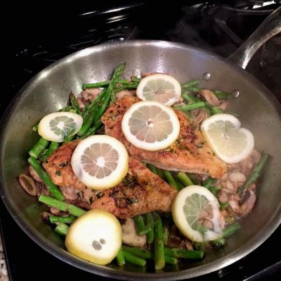 Easy lemon chicken asparagus