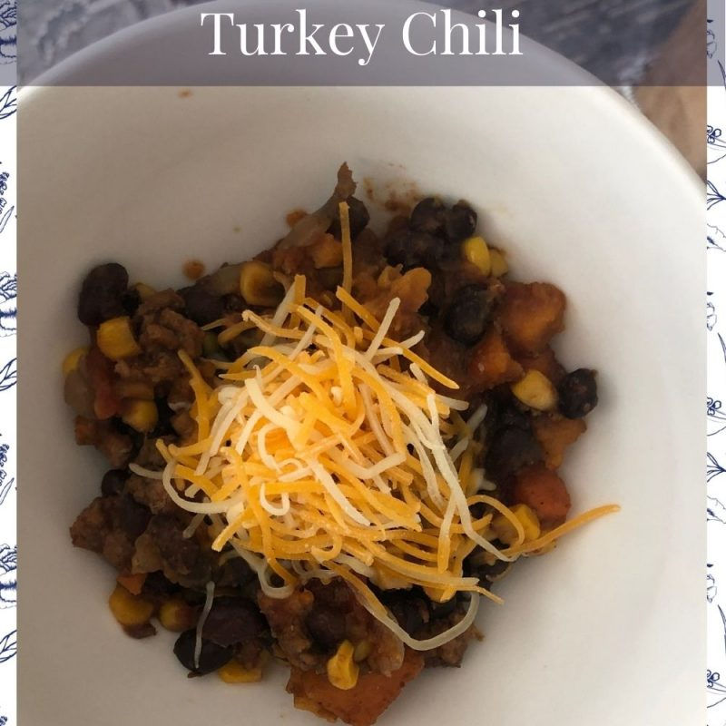 Sweet Potato Black Bean Turkey Chili